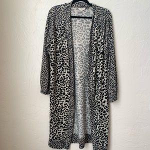 Umgee leopard duster cardigan ▪️size S
